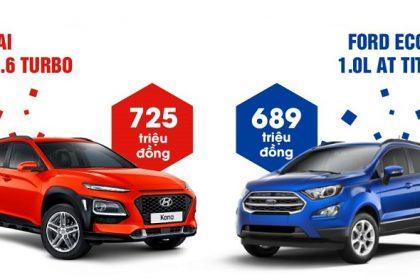 So Sánh Hyundai Kona Và Ford Ecosport