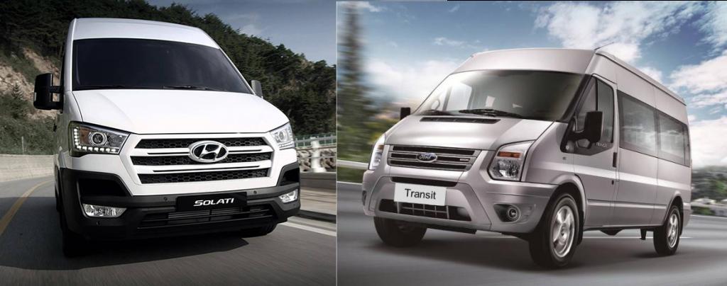 Ngoại hình Hyundai Solati hay Ford Transit hoàn hảo hơn