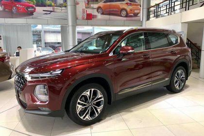 Hình ảnh Hyundai Santafe 2019 màu đỏ