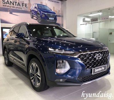 Hình ảnh Hyundai Santafe màu xanh dương