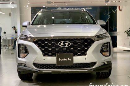 Hình ảnh Hyundai Santafe màu bạc
