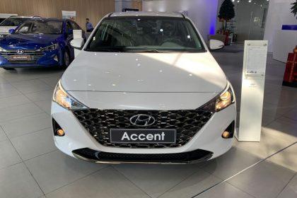Hình ảnh Accent 2021 AT tiêu chuẩn màu trắng