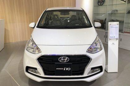 Hình ảnh xe I10 Sedan Gia Đình Màu Trắng (Số sàn)