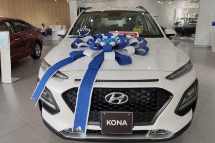 Hình ảnh Hyundai Kona tiêu chuẩn màu trắng