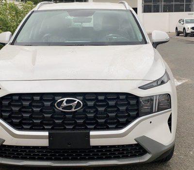Hình ảnh Hyundai Santafe 2021 màu trắng (bản đặc biệt)