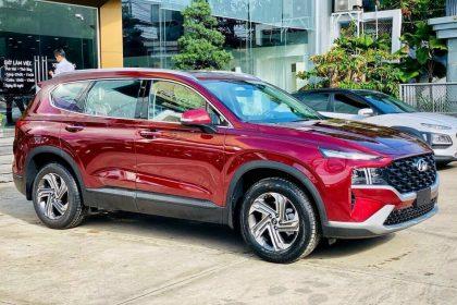 Hình ảnh Hyundai Santafe 2021 màu đỏ (bản tiêu chuẩn)